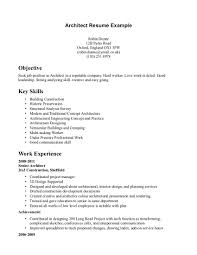 Construction Objective For Resume Resume Template Architecture Objective Example For Intended 100 86