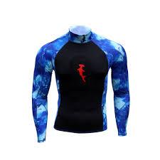 Ambush Rashguard L S Hh Camo Blue