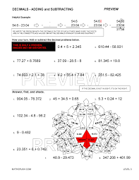Worksheets on Decimals by Math CrushAdding and Subtracting Decimals