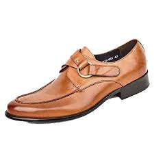 2 Color US Size 5-12 <b>New Genuine Leather Mens</b> Formal Slip On ...