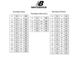 New Balance Size Chart Kid Girls Shoe Conversion Online Charts Collection