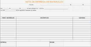 Ejemplo De Nota De Entrega De Materiales Notas De Entrega