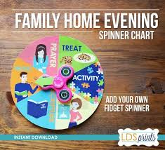Family Home Evening Fhe Assignment Spinner Chart