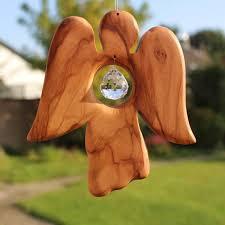 Fensterdeko Engel Aus Holz Mit Bleikristall Weihnachten