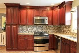 kitchen backsplash cherry cabinets.  Cabinets Cherry Kitchen Cabinets  Tile Backsplash Traditionalkitchen On T