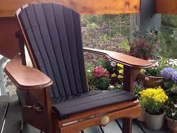 black adirondack bear chair cushion black adirondack chairs16