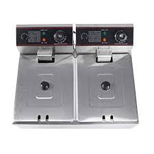 Dual Basket Deep Fryer, <b>12L</b> (6L X 2) <b>Commercial</b> Professional ...