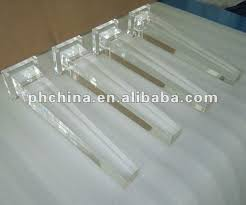 Acrylic legs for furniture Foot Stool Factory Sale Laser Cut Lucite Table Legs Modshop Factory Sale Laser Cut Lucite Table Legs