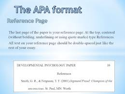 the apa format title page ppt video online  the apa format reference page