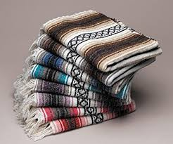 Mexican Falsa Blanket Throws
