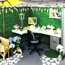 office cubicle decoration themes. Cubicle Decoration Themes Office Ideas Decorate  With Wicker Chair And Nice Flowers E