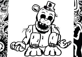 Fnaf Golden Freddy Coloring Pages Coloring Trend Medium Size O A