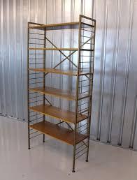 vintage retro mid century teak ladderax free standing shelving unit vinterior