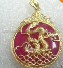 2019 red jade inlay dragon pendant necklace 18 from dong1227 9 04 dhgate com