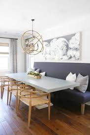 dining room banquette. Dining Room, Banquette Seating Ideas Dark Purple Seat With Wooden Leg Grey Concrete Table Chair Room