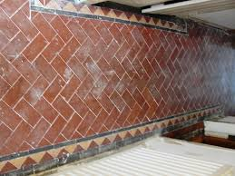terracotta tiles in chingford before cleaning