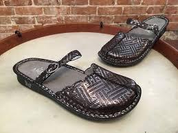 alegria tuscany pewter dazzler leather slip on comfort mary jane 41 10 5 new