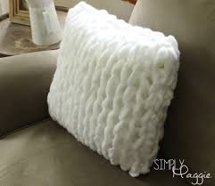 Arm Knitting Patterns Stunning One Hour Arm Knit Pillow Pattern Simply Maggie SimplyMaggie