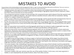 deconstructing an essay mistakes