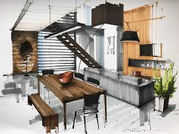 interior design color sketches. Simple Interior Interior Design Color Sketches By Sergei Tihomirov Intended Sketches S