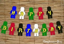 make your own birthday banner craftventure time ninjago birthday banner