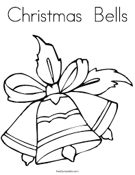 Small Picture Christmas Bells Coloring Page Twisty Noodle