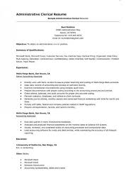 Data Entry Officer Sample Resume Beauteous Clerical Work Resume Trenutno