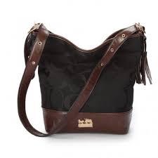 Coach Legacy Duffle In Printed Signature Medium Black Crossbody Bags z8195