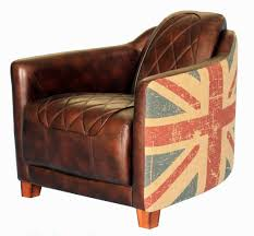 union jack chair add flair to any space with the union jack vintage bonded leather