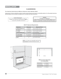 installation clearances regency bellavista b41xte large gas fireplace user manual page 10 64