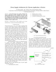 Dc Power System Design For Telecommunications Pdf Pdf Power Supply Architecture For Telecom Application A Review