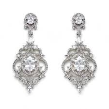 silver vintage chandelier earrings