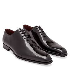 patent leather oxford lace up shoes