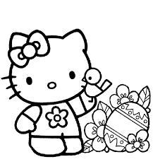 Hello kitty coloring pages for kids. Free Printable Hello Kitty Coloring Pages For Kids