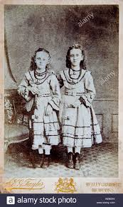 Two Girls Photographed by A G Taylor Wesley Chambers 157 Commercial Stock  Photo - Alamy