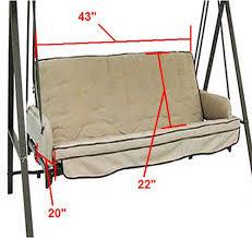 Universal Replacement Swing Cushion Garden Winds
