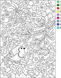 Small Picture Nicoles Free Coloring Pages COLOR BY NUMBER WINTER Coloring