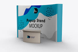 Pop Up Packaging Design Exhibition Popup Stand Mockup Mockup Daddy