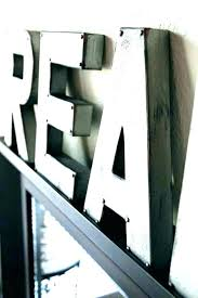 metal letters home decor large wall vintage for let