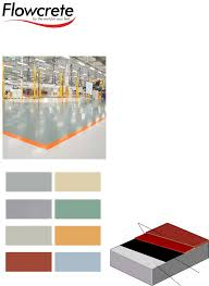 Flowcrete Color Chart Flowcoat Sf41 System Bk Systems Total Floor Wall B K