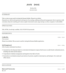 Free Easy Resume Builder Sample Resume Letters Job Application