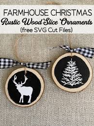 Christmas tree of stars (svg cut file) by creative fabrica crafts · creative fabrica. Rustic Wood Slice Christmas Ornaments The Girl Creative