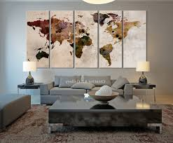 most popular maps canvas wall art with 20 rustic wall decor ideas to help you