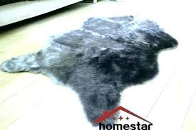 fake cow skin rug animal rugs faux with head funny grey fur luxury gy carpet bearskin