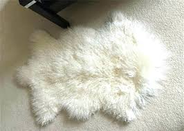 grey mongolian faux fur rug sheepskin black 2 x 4 lamb natural diamond white genuine lambskin
