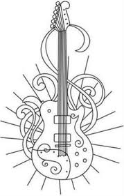 Small Picture rock and roll coloring pages Electric Guitar Coloring Page Music