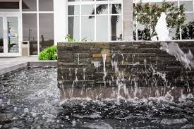 l e d bubblers to illuminate fountain wall stone finish