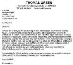 Cover Letter For Part Time Job Latest Information