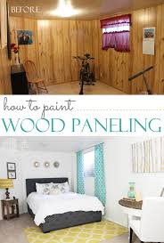 how to paint wood paneling make a dated room look chic instantly