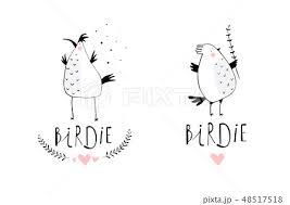 可愛い イラストレーター 小さい 鳥のイラスト素材 Pixta